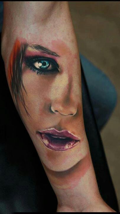 #tattoo #face #ink