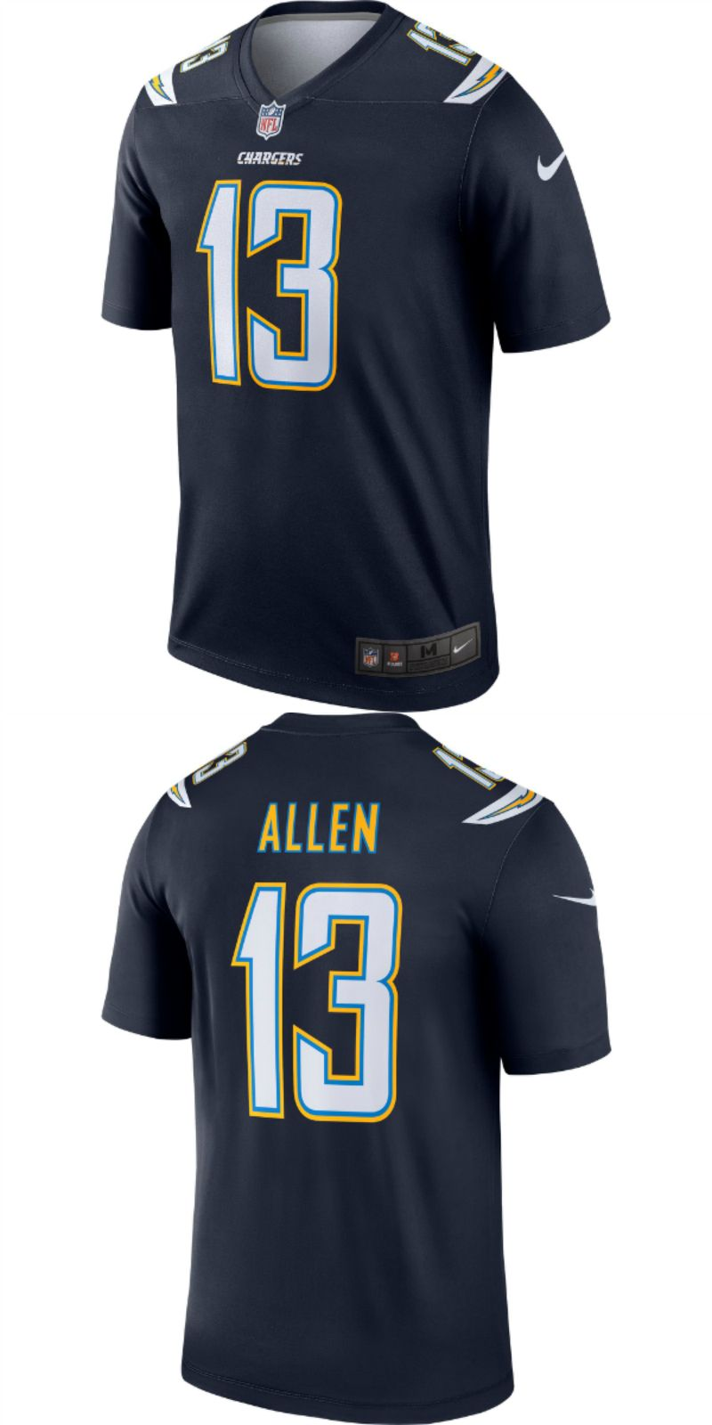brand new 6d4d1 d610b mens Los Angeles Chargers custom football Game jersey | NFL ...