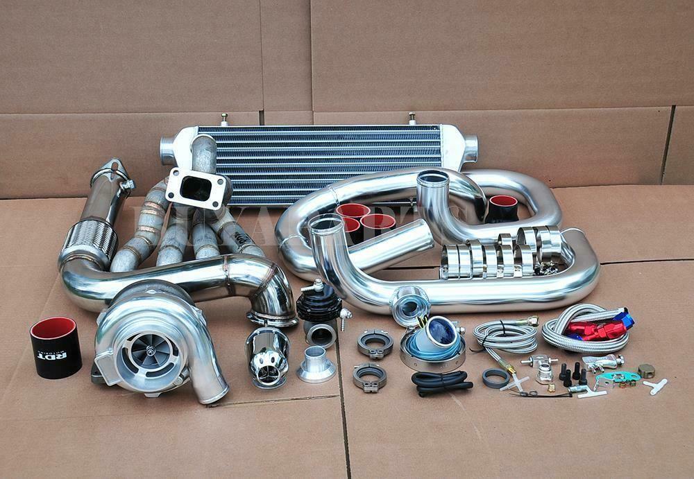 eBay #Sponsored 500HP GT30 Bolt on Turbo Kit Chrome Piping
