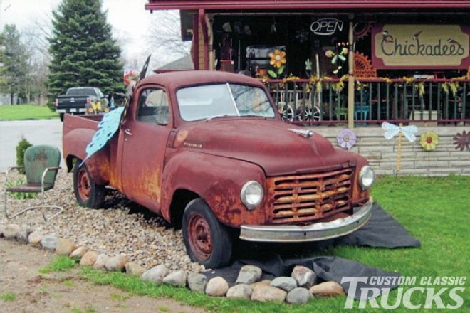 The end of this 1951 Studebaker truck is delayed, as owners of a vintage shop use it as to attract motorists on Highway 31.