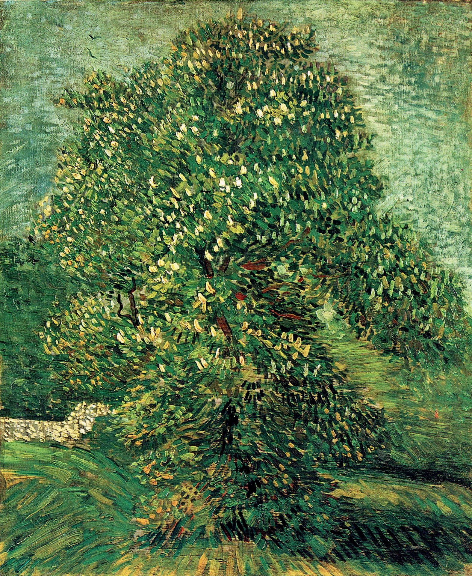 Chestnut tree in blossom, 1887. Vincent van Gogh. Van Gogh Museum, Amsterdam, Netherlands