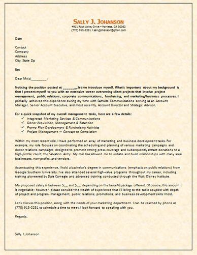 examples of cover letters explaining employment gaps