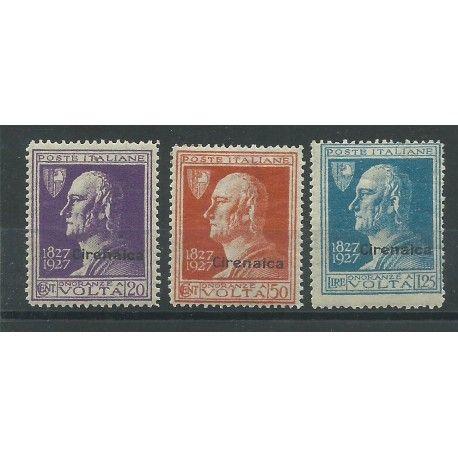 1927 CIRENAICA SERIE VOLTA 3 VALORI NUOVI MLH MF24308