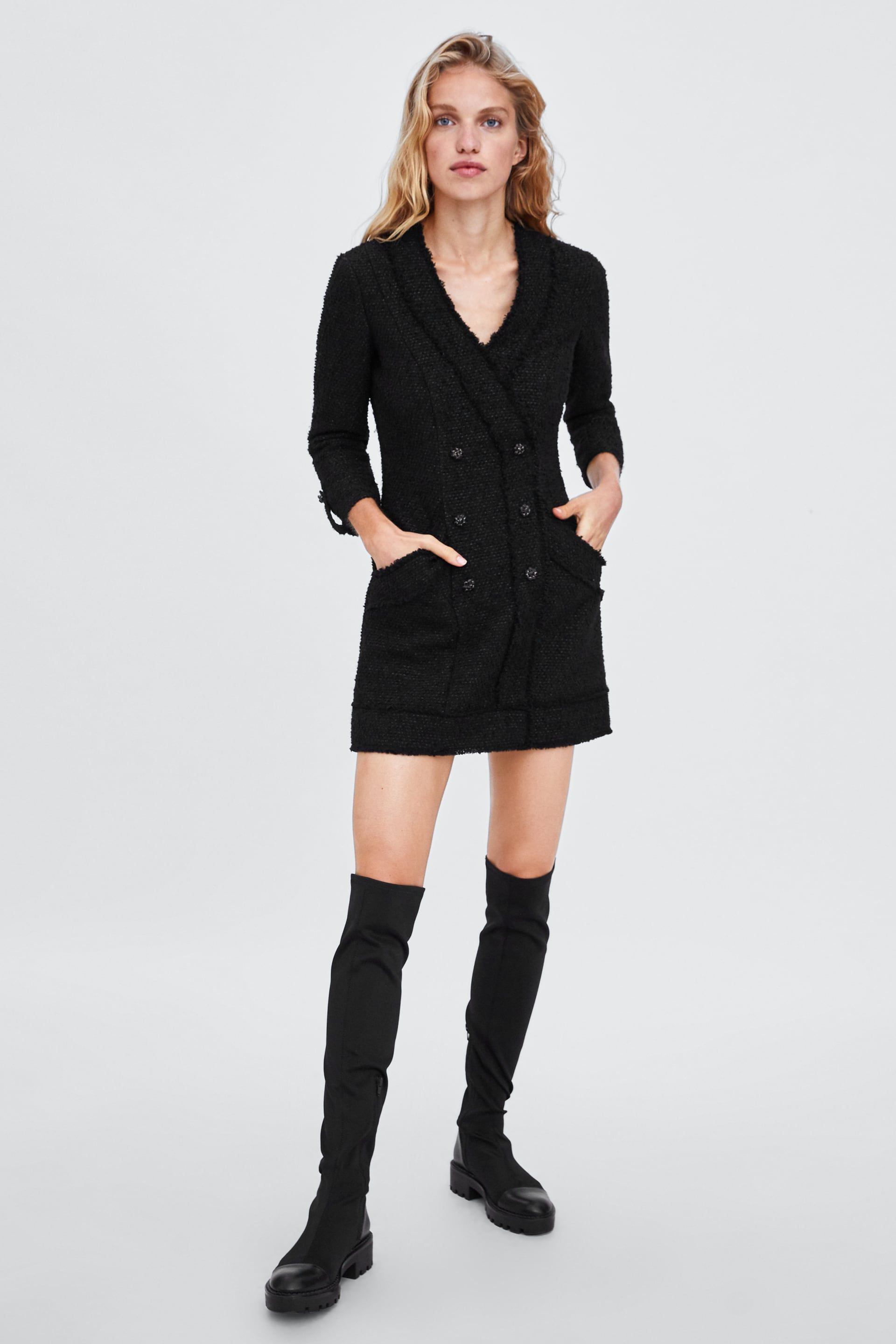 f00885446f2a Image 1 of TWEED BLAZER DRESS from Zara | Work Clothes in 2019 ...