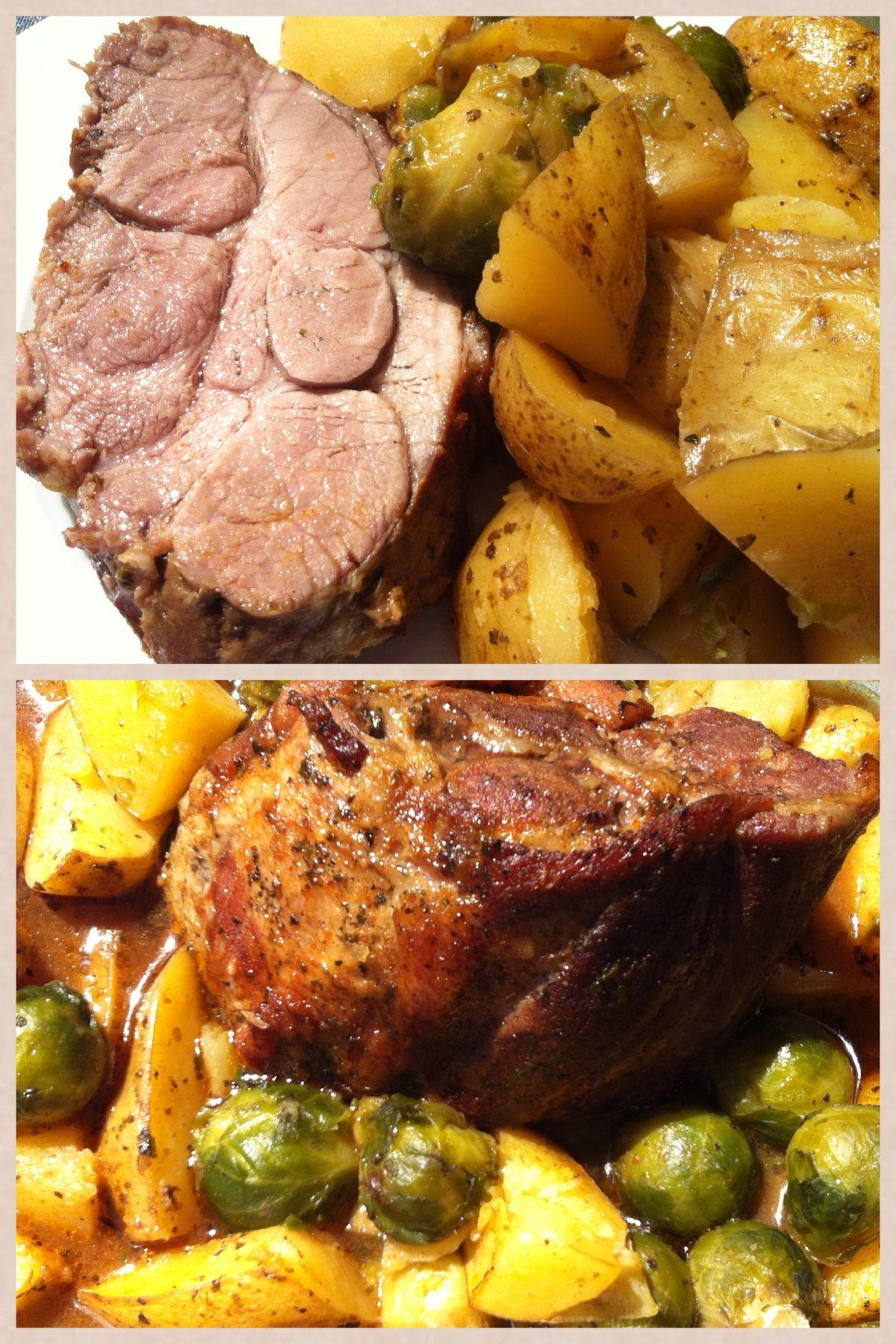 Kartoffel-Bratl, bayrischer Schweinsbraten mit Kartoffeln  Www.manufaktur-Blessing.de