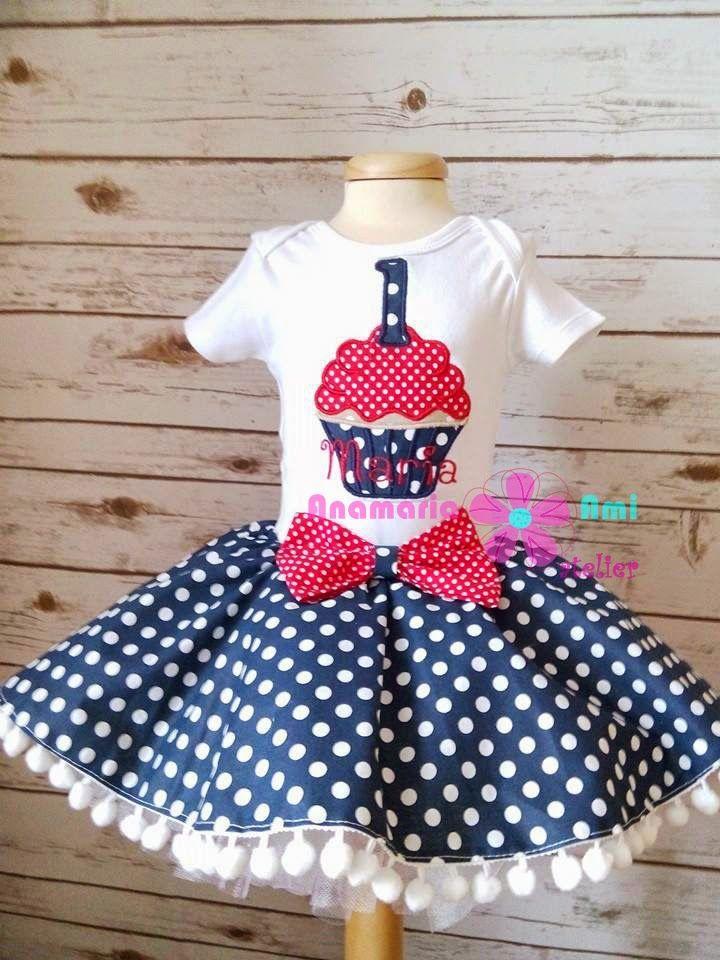 set marinar briosa brodat by Anamaria Ami cupcake skirt