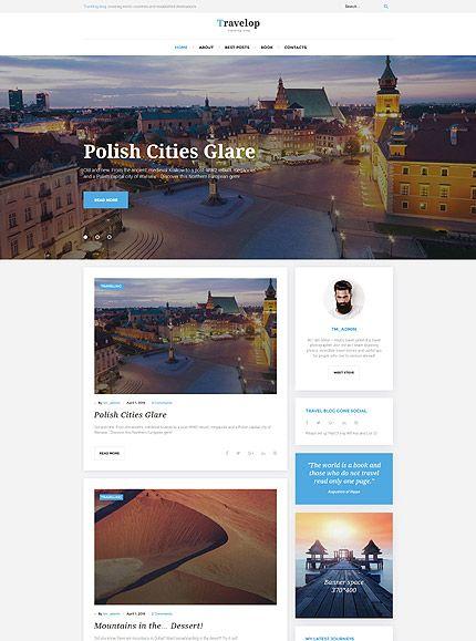 Traveler WordPress Theme | Wordpress | Pinterest