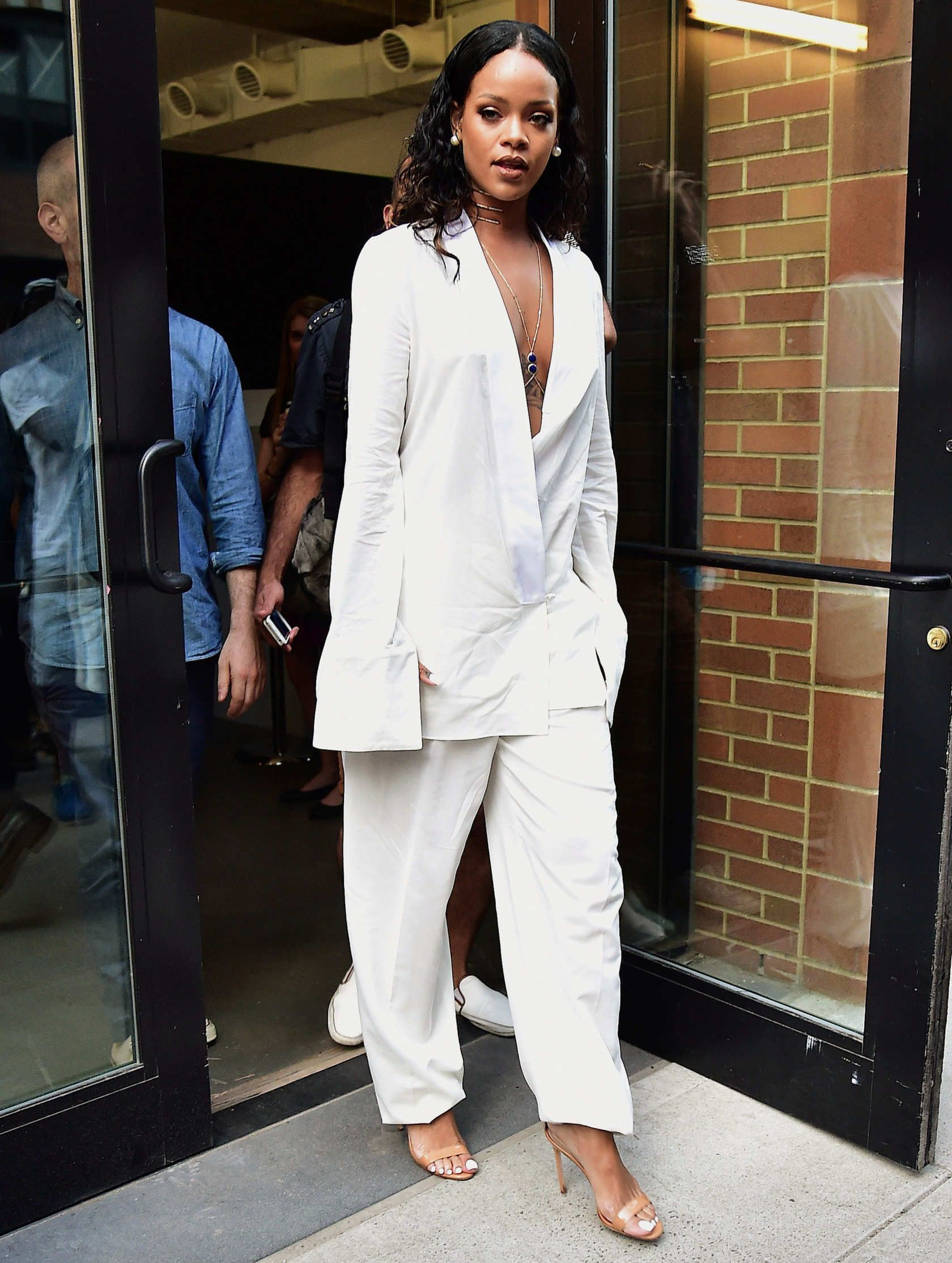 7315fbb29b69 At Edun The official white pantsuit of bosses. Photo  Alo Ceballos Getty  Images