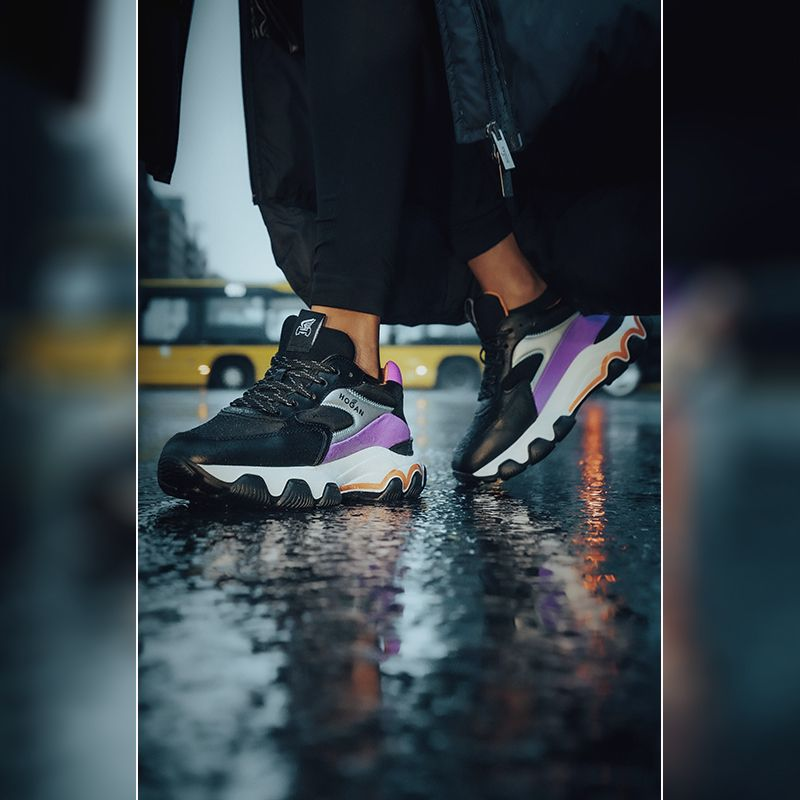 Hints of cool purple on the #HOGAN #AW2021 #Hyperactive #sneakers ...