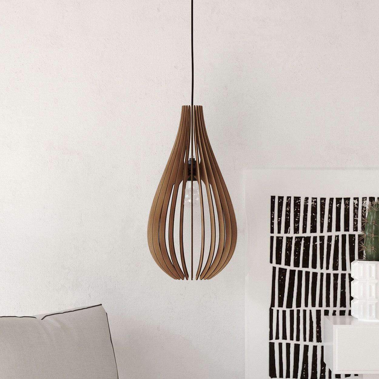 Wood pendant light lasercut chandelier lamp handmade plywood hanging wood pendant light lasercut chandelier lamp handmade plywood hanging ceiling cup ecological minimal modern design industrial arubaitofo Image collections