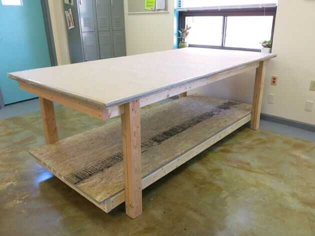 Cutting Table Professional Sewing And Drafting Table   Lots Of Picu0027s On  Link Of How Itu0027s Built + Of What.