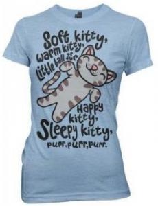 65e564c48 Gifts for Her: Big Bang Theory Juniors Soft Kitty T-Shirt @ Amazon  NameWorksDirect.com