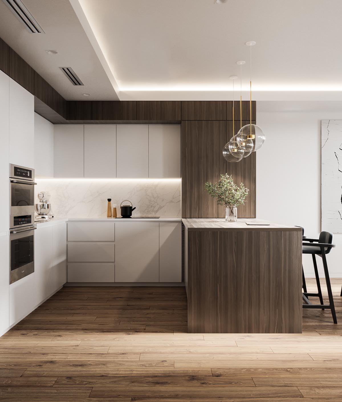 Sophisticated Modern Glamour Home Tour Minimal Kitchen Design Minimalist Kitchen Design Contemporary Kitchen Design