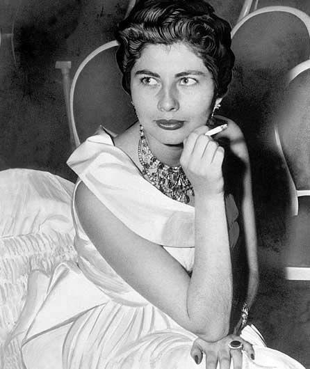 Soraya segunda esposa del Shah.