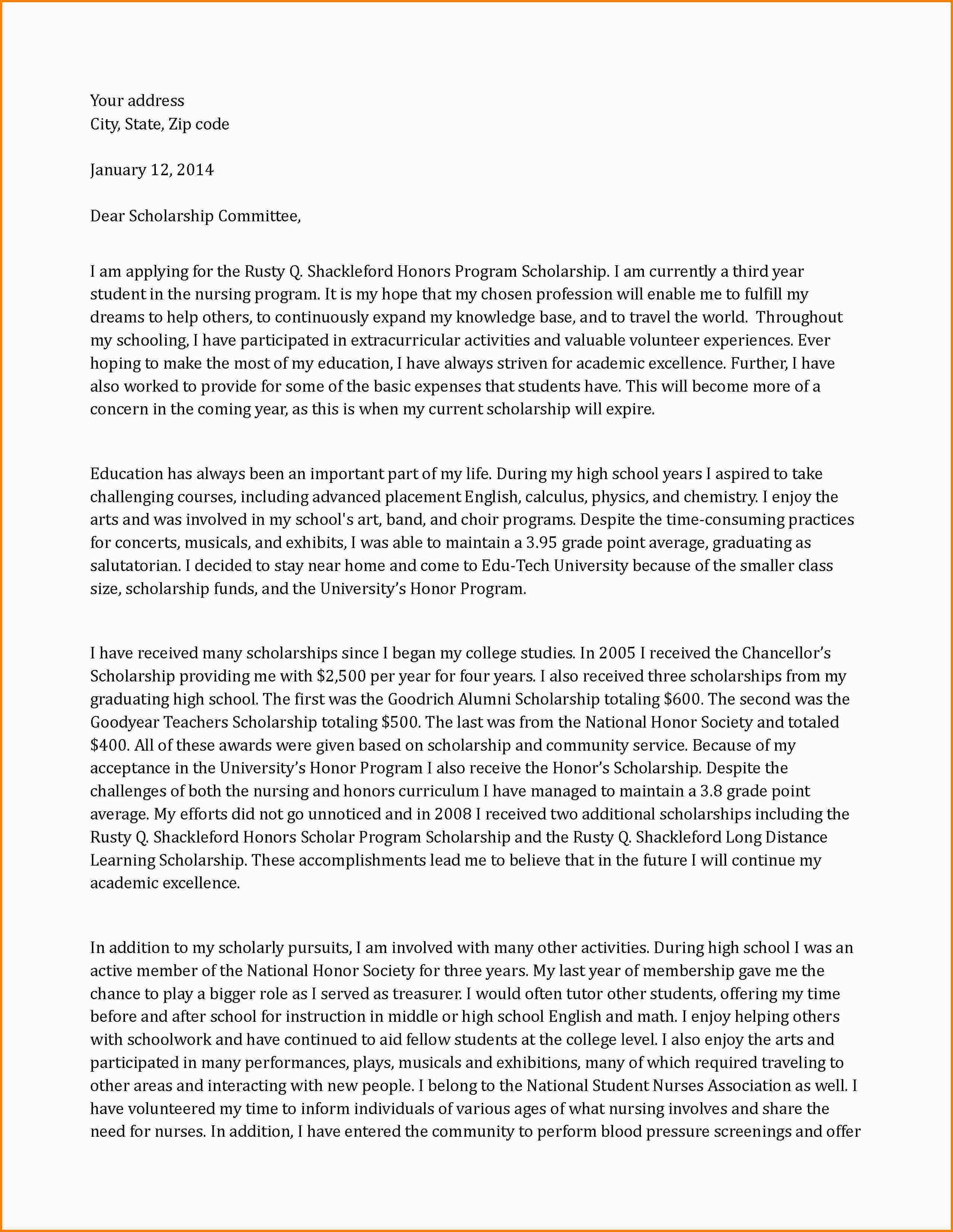 economic development cover letter