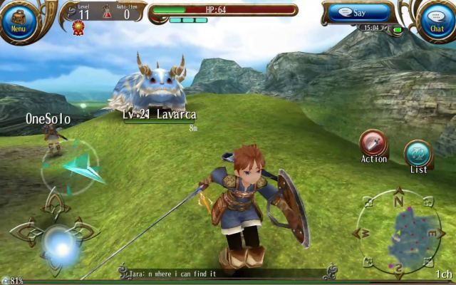 Toram online is a Free-to-play , Role-Playing MMO Android