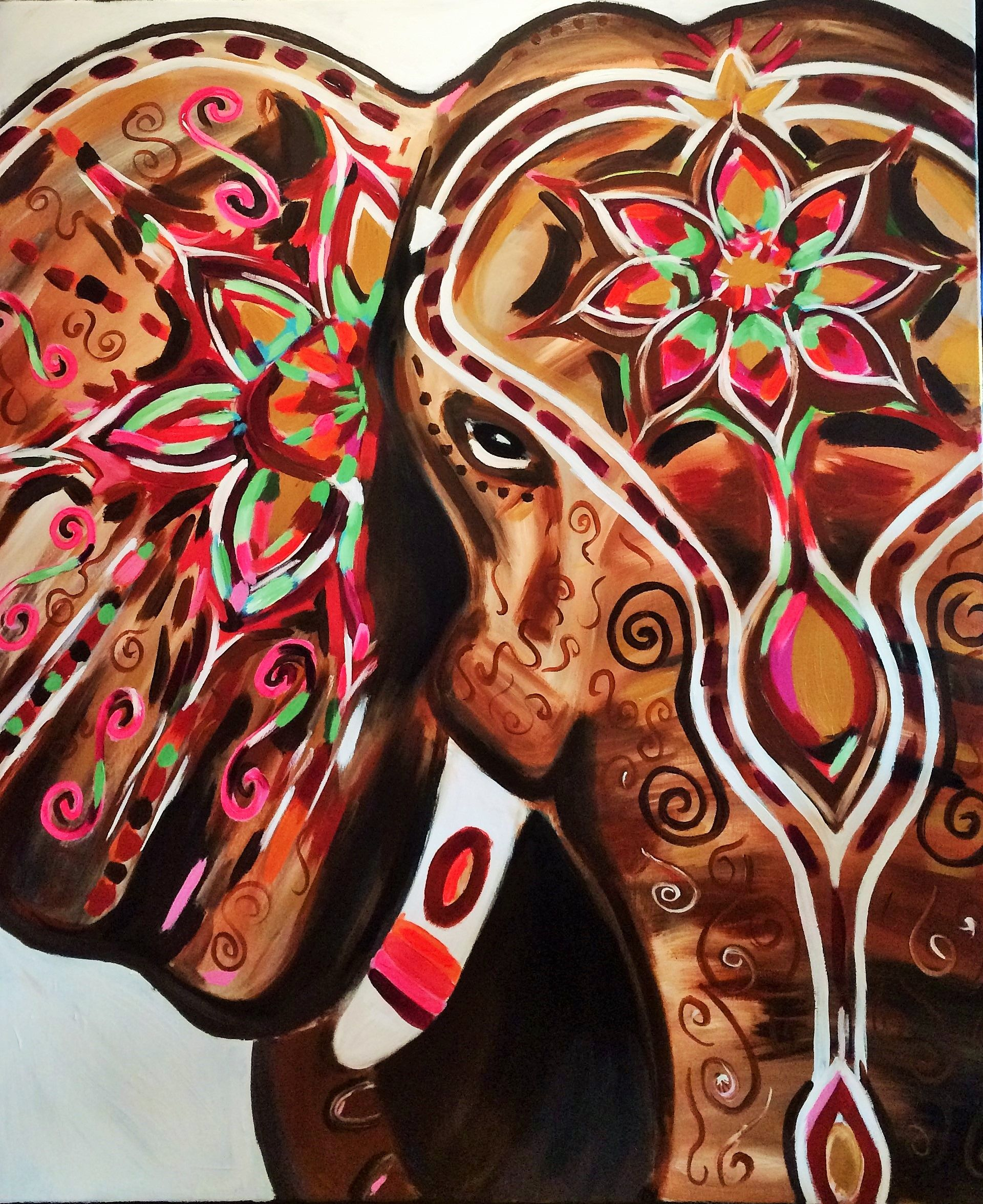 Hippie Bedrooms Elephant Art Indian Elephant Artisoof Groningen Www