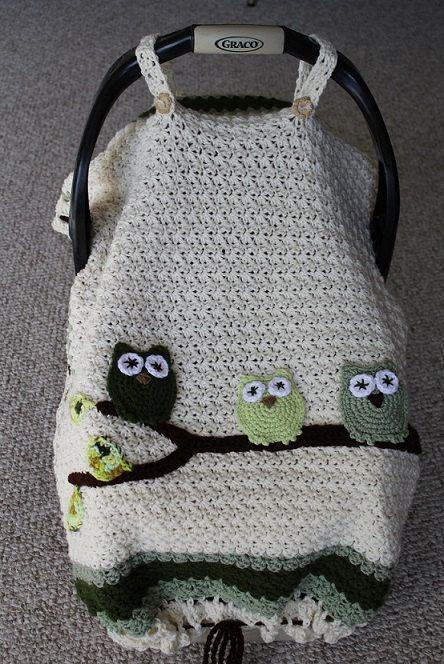 Instant Download, PDF FILE - Crochet Pattern, Infant Tented Car Seat ...
