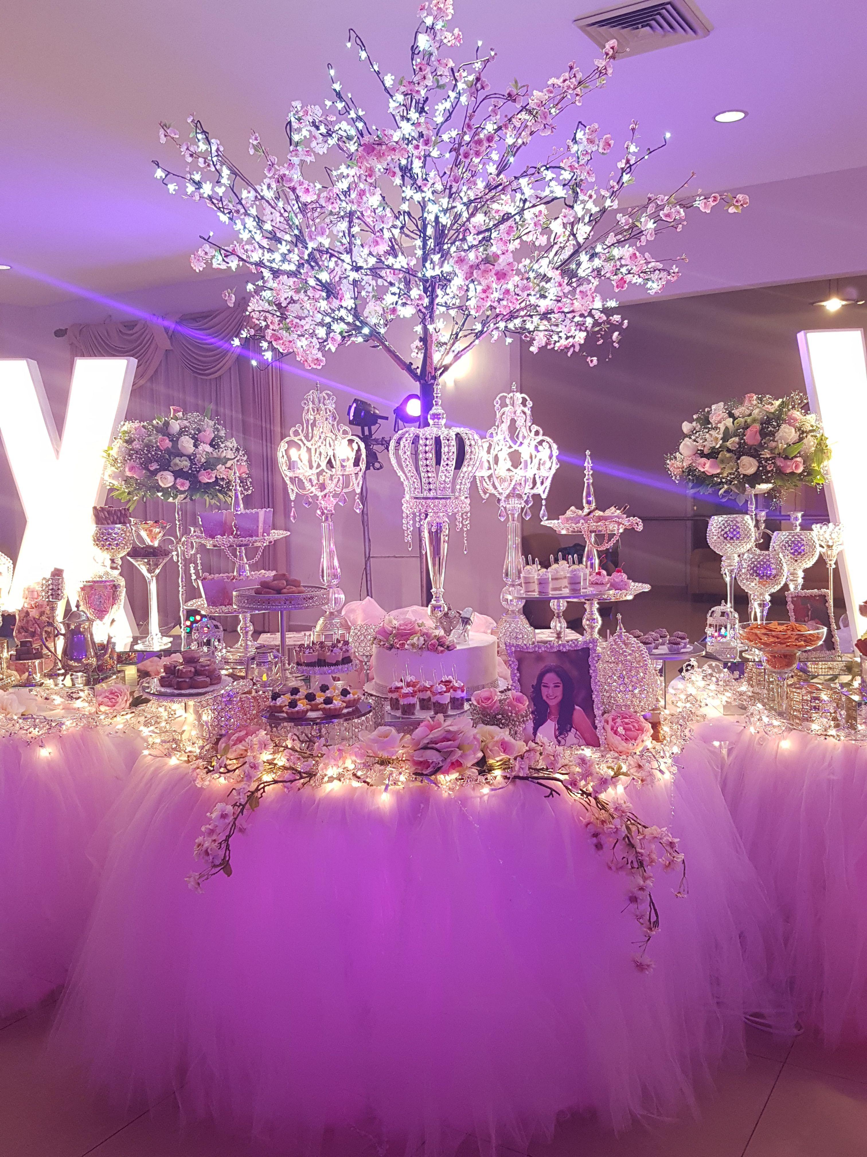 Mesas de Dulces para quince años #XV #quinceaños #quince #quinceañera  #mesaded… | Ideas de mesa de dulces, Decoracion de quinceaños, Decoraciones  de fiesta elegante