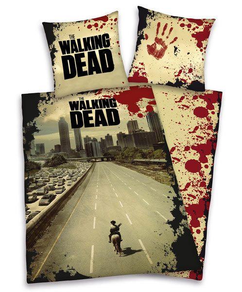 Set funda nórdica reversible The Walking Dead Preciosa funda nórdica reversible con la imagen de la portada The Walking Dead.