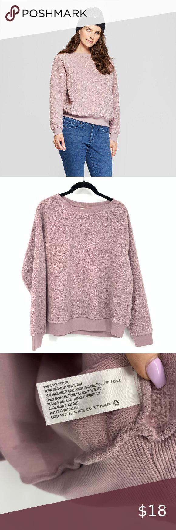 Universal Thread Lavender Sherpa Crewneck In 2020 Clothes Design Universal Thread Sweatshirt Tops [ 1740 x 580 Pixel ]
