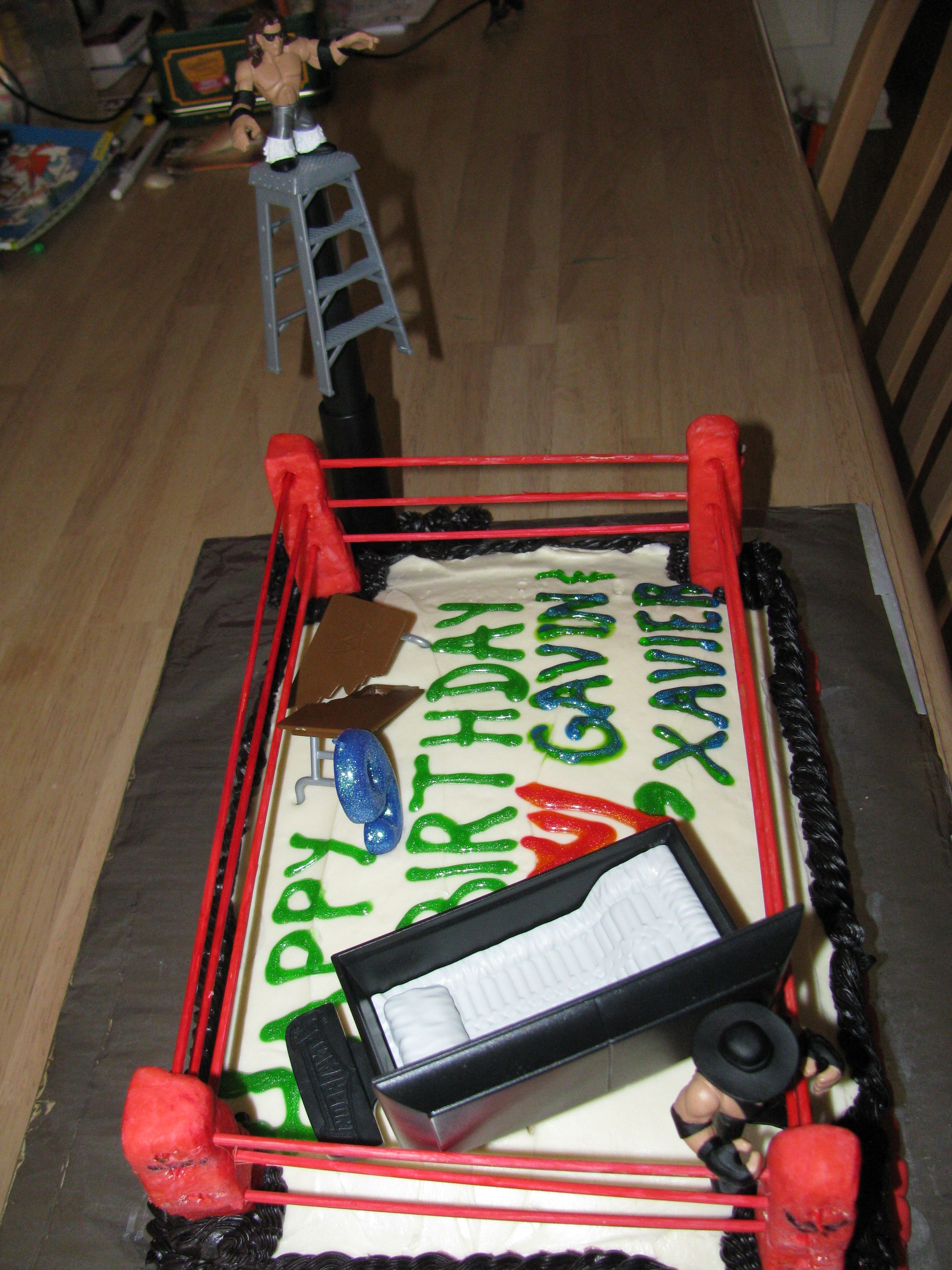 Wwe Wrestling Birthday Cake My Daughter Would Be In Heave