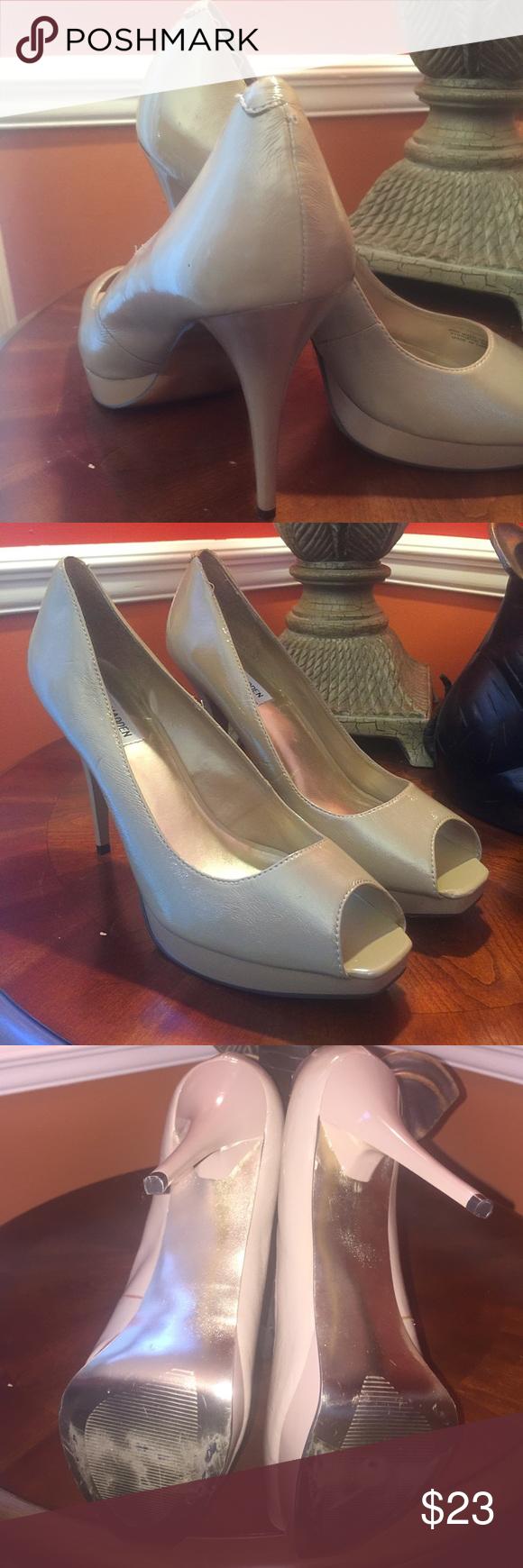 Shoes Steve Madden peep toe platform patent leather pump. Steve Madden Shoes Heels