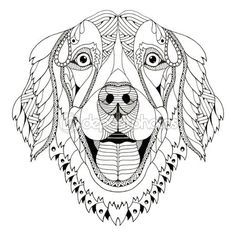 Golden Retriever Coloring Pages - Best Coloring Pages For Kids | 236x236