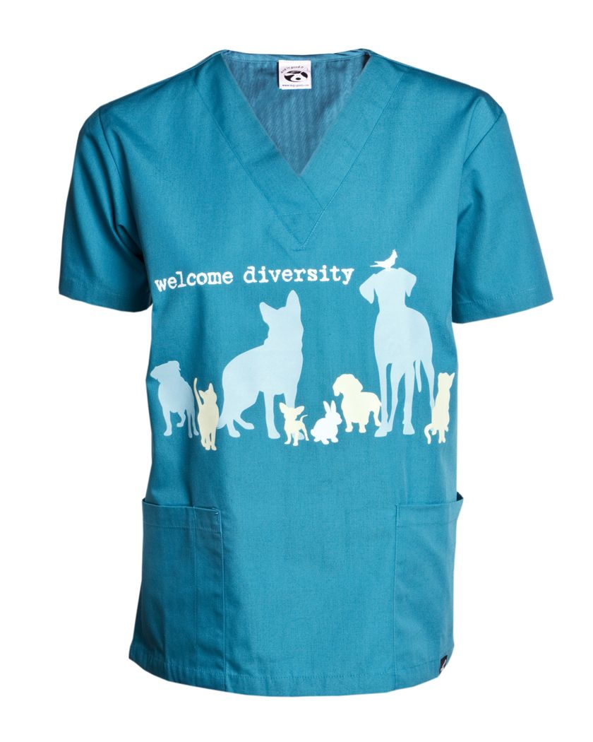 cd9cc66af90 Share this product and get a coupon code to save 10% storewide Welcome  Diversity Scrub Top! #dogisgood
