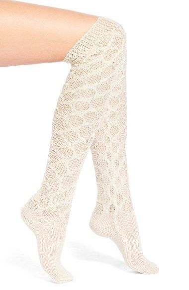 618f1b704e6 Lemon  Frosted  Crochet Over the Knee Socks