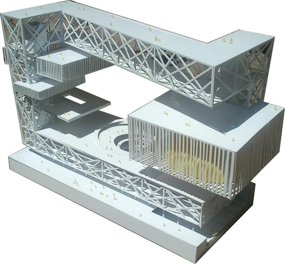 2 Architectural Model Competition Amodel Pinterest Beam Bridge Diagram Of The Design Concept Modern Buildings Architecture Facade Archi