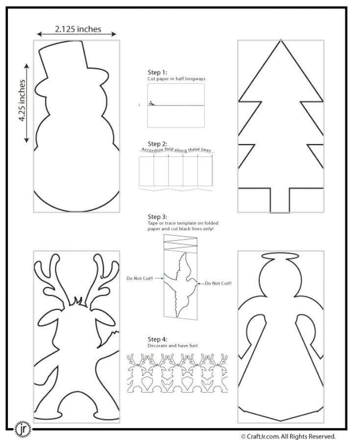 Christmas Bunting Here Are Some More Cute Paper Chain Templates Theres A Snowman