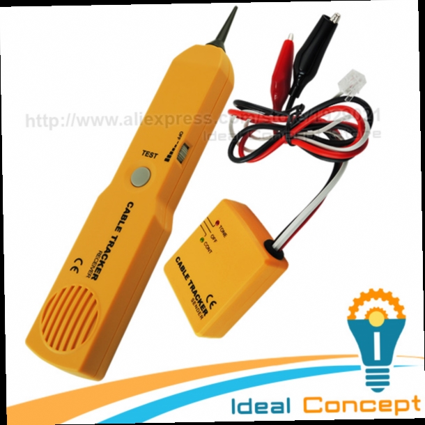 48.06$  Buy here - http://alizv1.worldwells.pw/go.php?t=32639910541 - Cable Tracker Wire Tracer Telephone Line Tester Continuity Network Phone Single Dual Tone Test 48.06$
