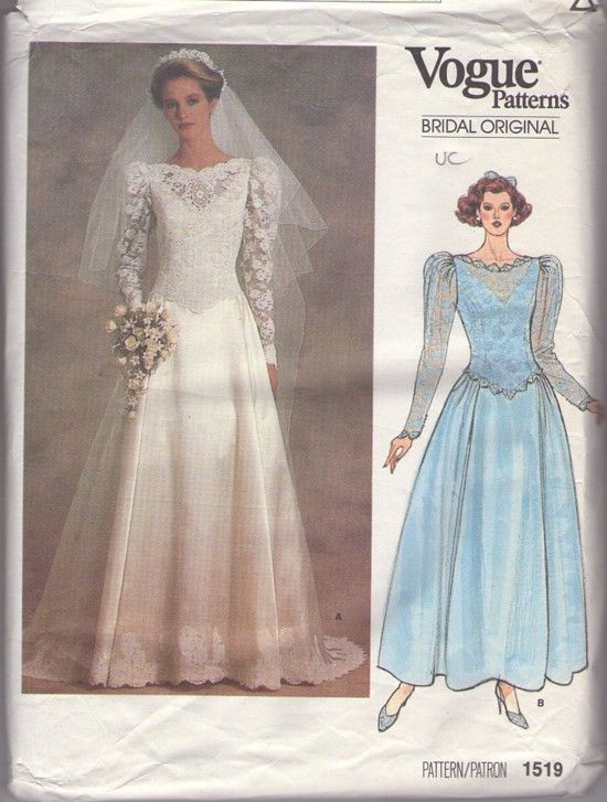 MOMSPatterns Vintage Sewing Patterns - Vogue 1519 Vintage 80\'s ...