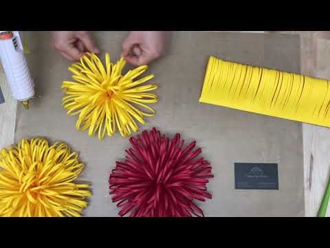 Giant Fluffy Centre for Large Paper Flowers / DYI tutorial