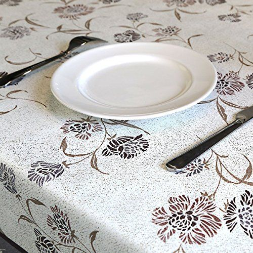 Delicieux Vishatroves Rectangle PVC Tablecloth   Proof Waterproof£¬Stain Resistant  £¬Mildew Proof Easy To Clean Table Cover X Cm Classical Flower