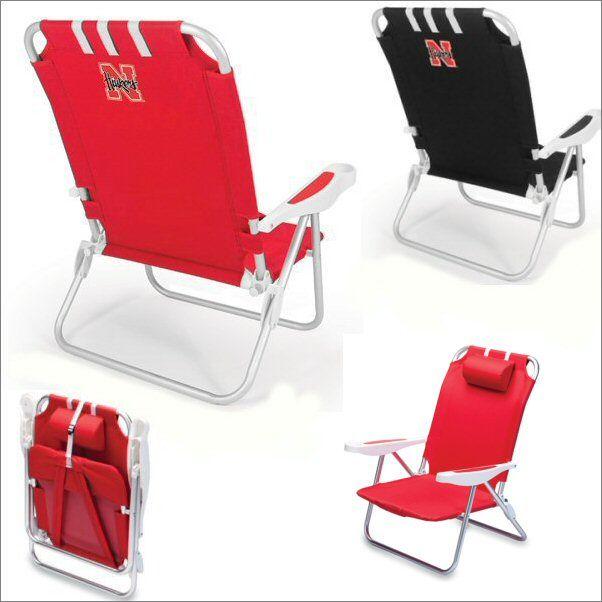 Nebraska Cornhusker Monaco Beach Chair