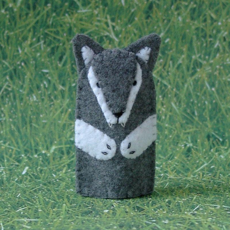 Big Bad Wolf Finger Puppet. $5,00, via Etsy.