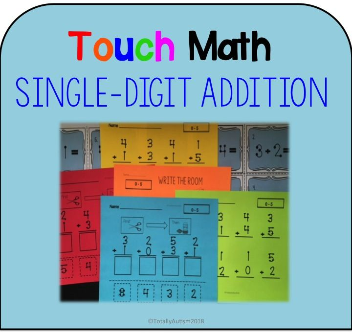 Touch Point: Single Digit Addition | Worksheets, Touch math and ...