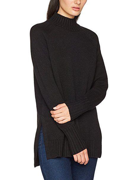 Polo Sleeve Roulé SweaterPull À Long Noir Col Ralph Femme Lauren uXZTiOkP