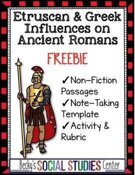 Etruscan and Greek Influences on Ancient Romans - FREEBIE ...