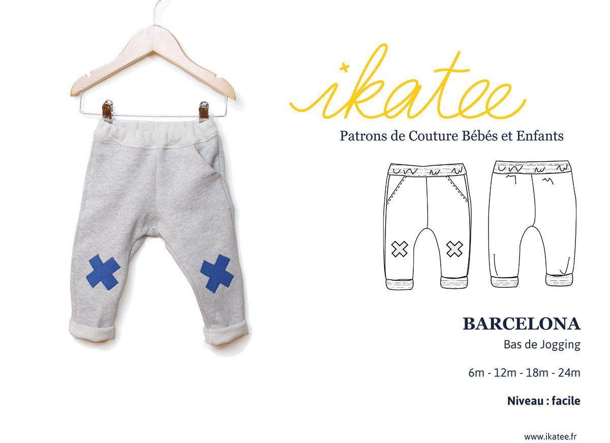 bbcc1057408c8 Patron de Couture PDF à télécharger. Bébé mixte. De 6 à 24 mois.