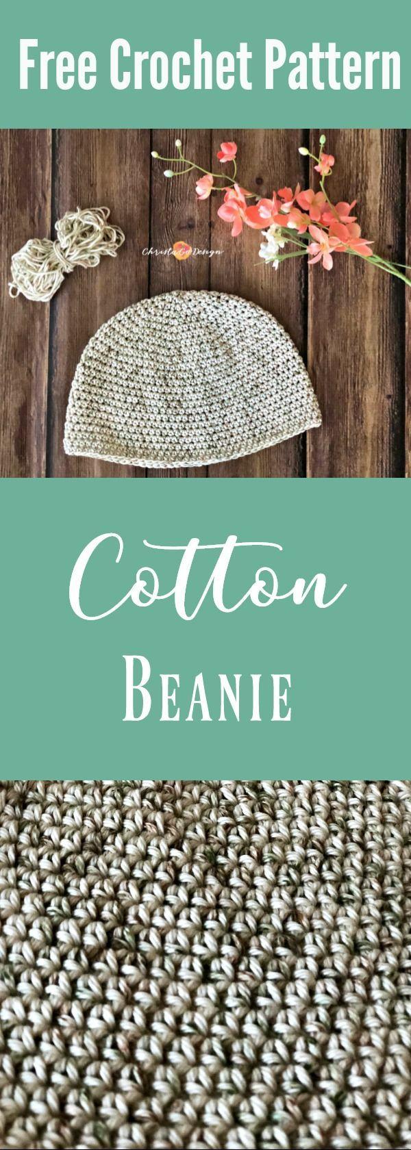 Cotton Crochet Chemo Cap Pattern   Pinterest   Häkeln anleitung ...