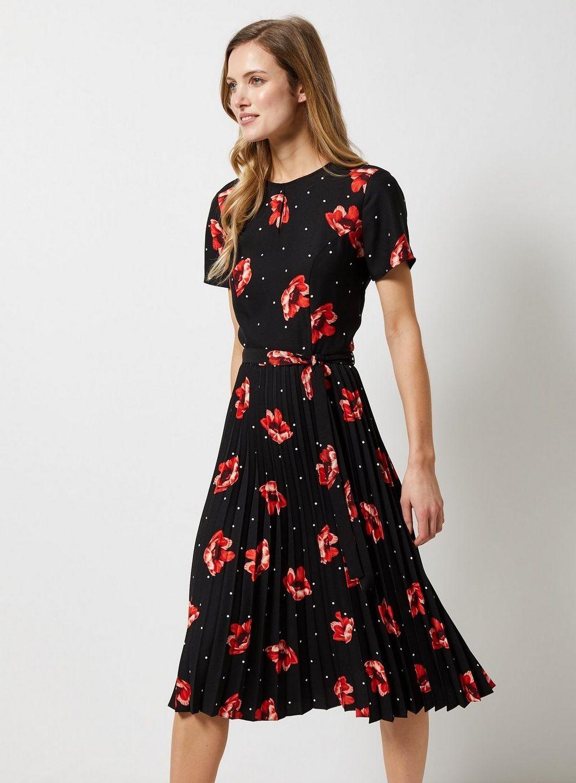 Dorothy Perkins Womens Formal Spot Print Dress Party
