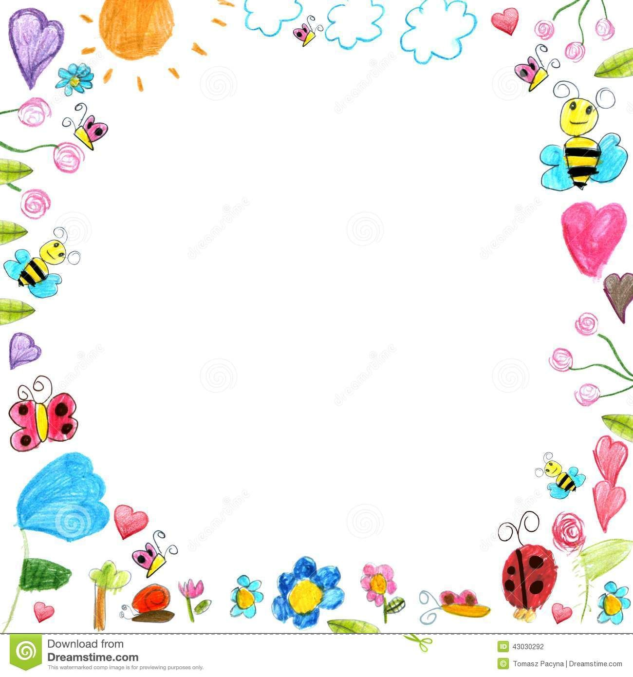 Child Scribbles Drawings Background