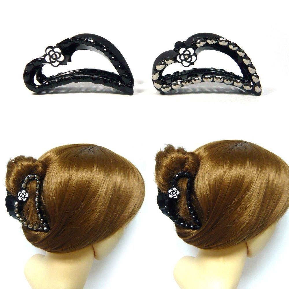 Hair Claw Banana Clip 1pc Acrylic Rhinestone Hair Clip