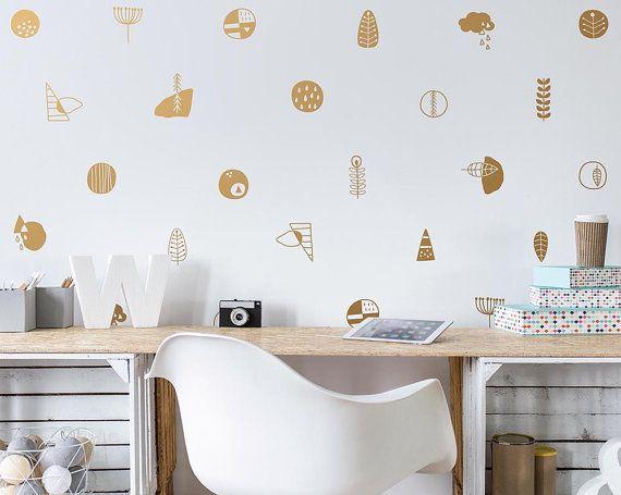 scandinavian wall decals vinyl designs nordic style modern wall vinyl decals - Wall Vinyl Designs