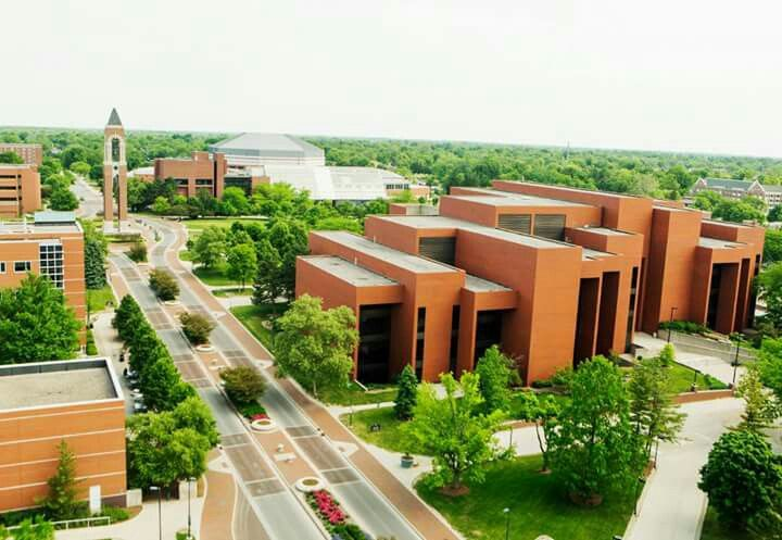 Aerial View Of Ball State Campus House Styles