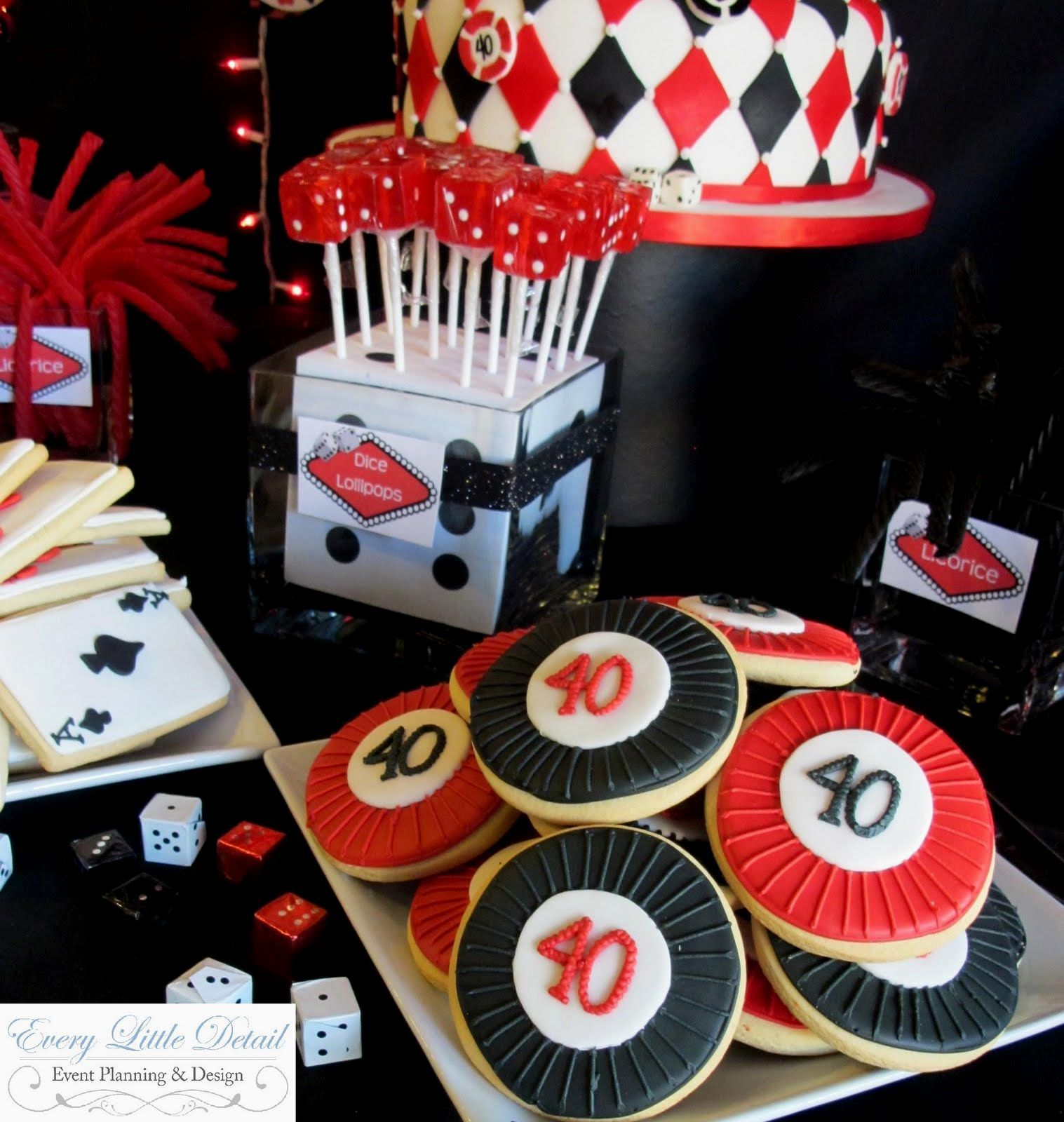 Casino Party Theme Ideas Chip And Card Cookies