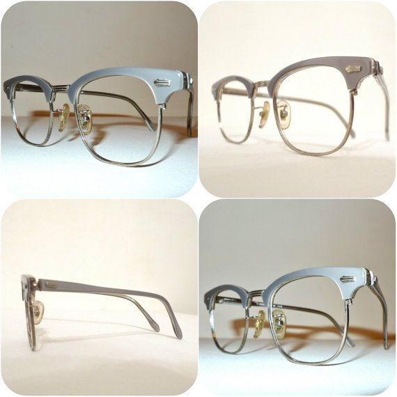 RESERvED Grey Pearl CLubmaster Eyeglass Frame. VTG 60s Oyster ...
